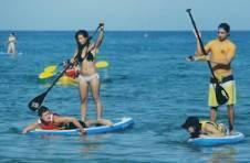 Thumbnail Beim Rudern auf dem Surfbrett beim Wassersportcamp