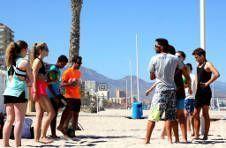 Thumbnail Das Volleyball Team beim Sommercamp in Spanien