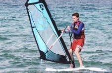 Thumbnail international windsurfing students in Alicante