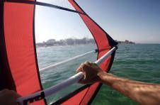 Thumbnail saling and Windsurfing classes in Alicante summer camps